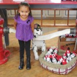Sophia with 101 Dalmatians