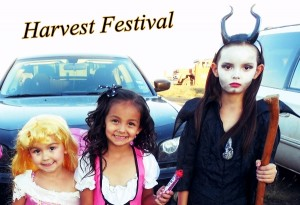 Our girls at the Harvest Festival